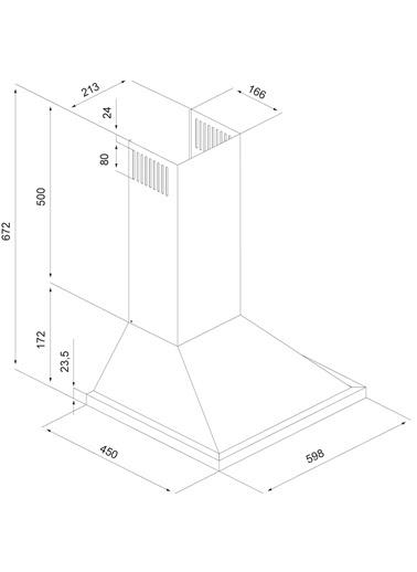 Silverline 2240.6.110.08 Conic Siyah 60 cm Ankastre Davlumbaz Renkli